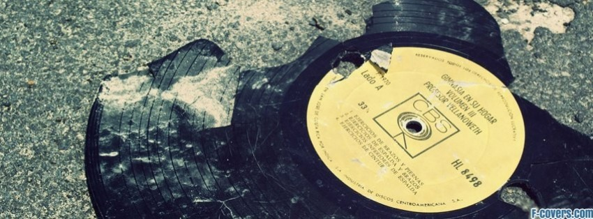 broken vintage vinyl facebook cover