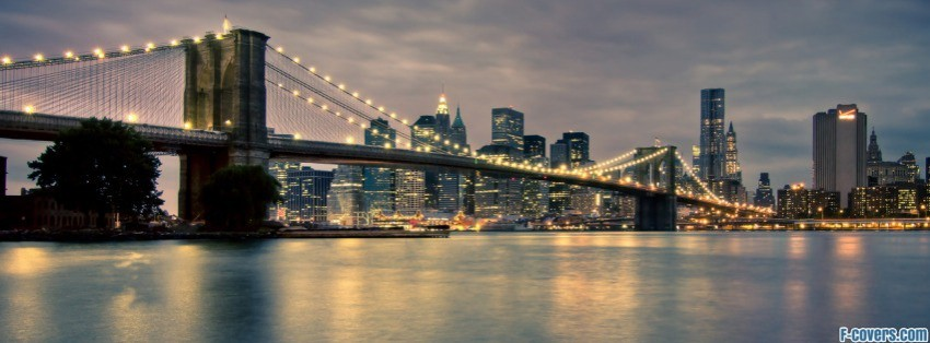 brooklyn bridge in new york facebook cover