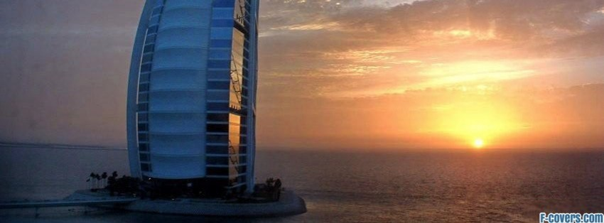burj al arab hotel in dubai facebook cover