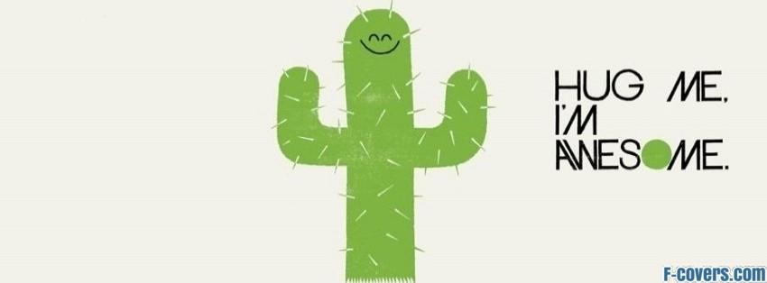 cactus hug me facebook cover