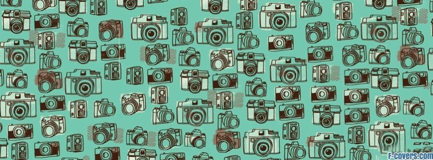 camera pattern facebook cover