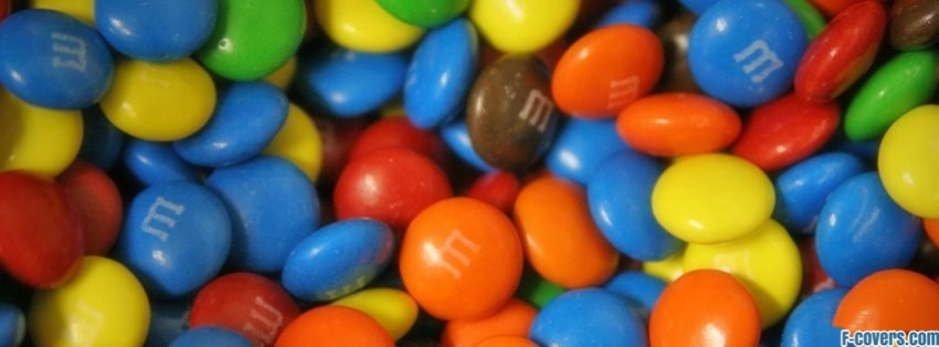 candy m and m facebook cover