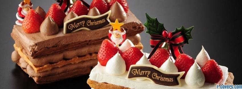 christmas dessert facebook cover