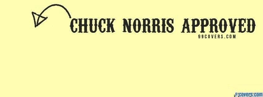 chuck norris approved facebook cover