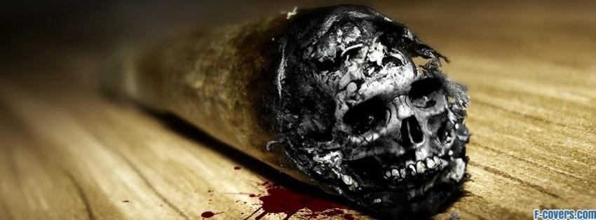 cigarette skull facebook cover