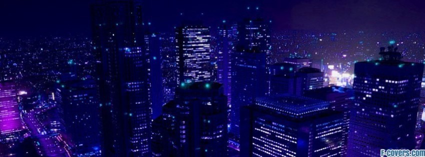 cityscapes city lights 2 facebook cover