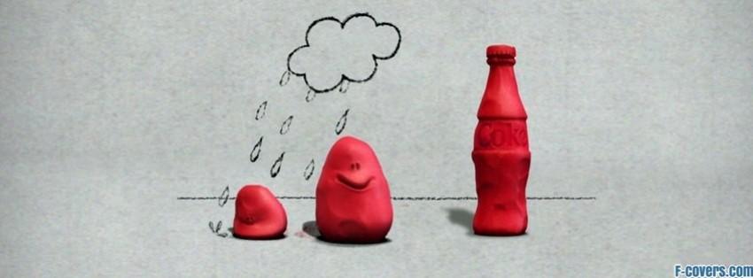coca cola clay facebook cover