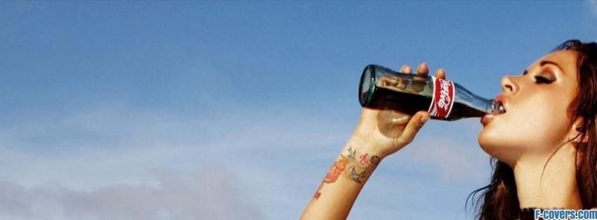 coca cola girl facebook cover