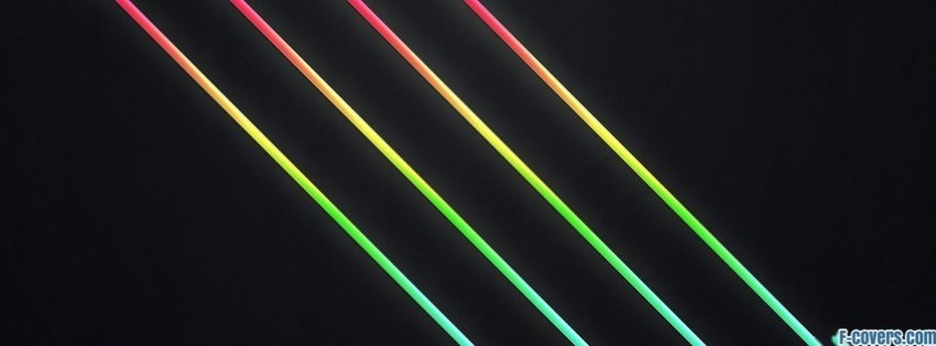 colorful diagonal lines facebook cover