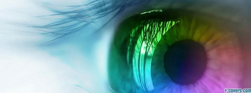 colorful eye facebook cover