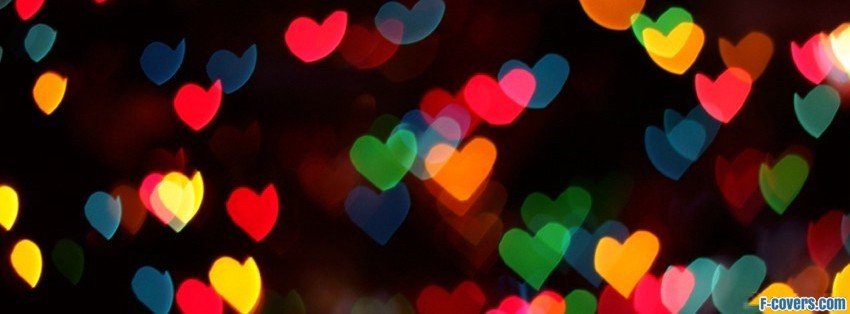 colorful hearts facebook covers