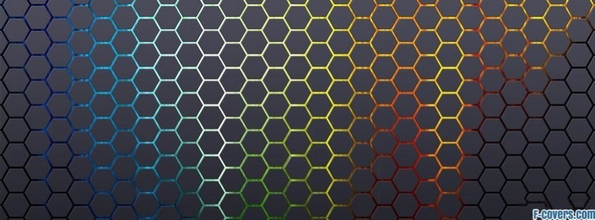 colorful hexagon pattern facebook cover timeline photo