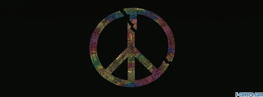 Hippie Peace Facebook Covers colorful peace sign ty...