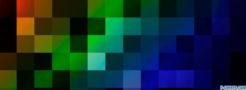 brand new 9affd 5f2b1 colour pixel pattern Facebook Cover timeline photo banner for fb