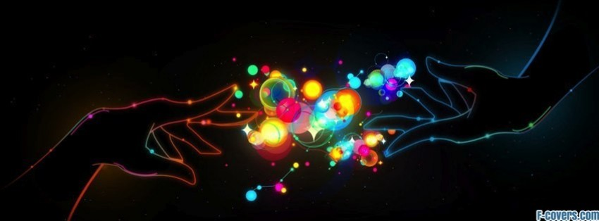colourful abstract hands facebook covers