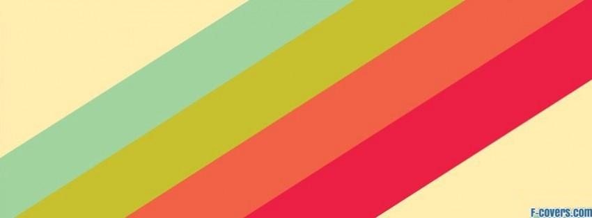colourful stripes pattern facebook cover