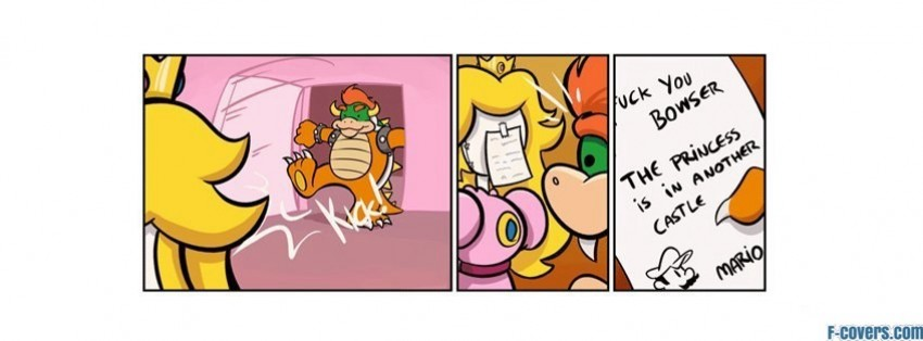comics mario princess funny peach bowser facebook cover