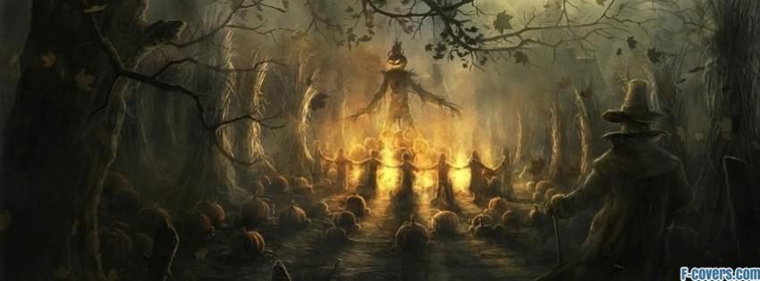 creepy halloween scarecrow facebook cover - Halloween Facebook Banners