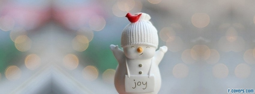 cute christmas joy snowman Facebook Cover timeline photo ...