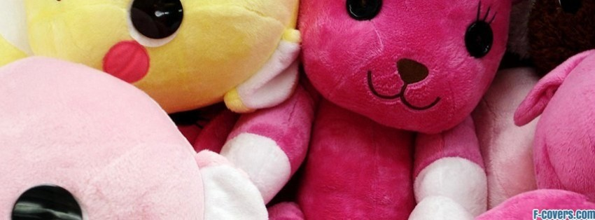 cute plush facebook cover