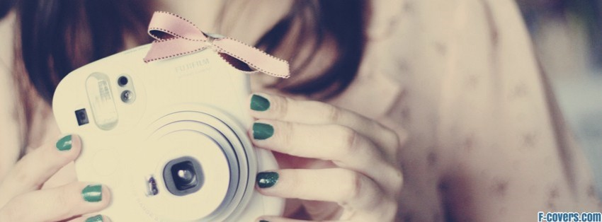 cute polaroid camera facebook cover