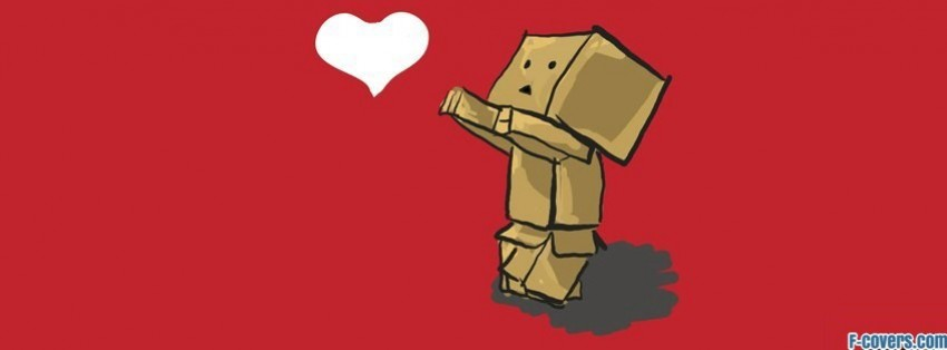 danbo chasing love heart facebook cover