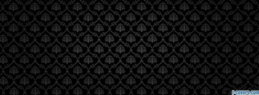 dark damask pattern Facebook Cover timeline photo banner for fb