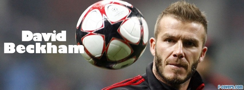 david beckham football facebook cover