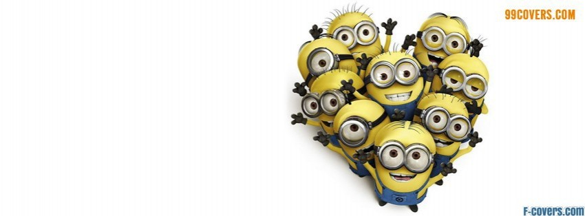 despicable me minions heart facebook cover
