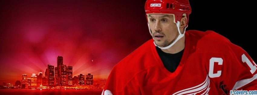 Detroit Red Wings Steve Yzerman Facebook Cover Timeline