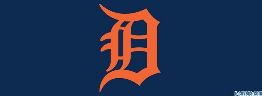 detroit tigers simple logo facebook cover