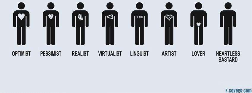different kinds of heart facebook cover