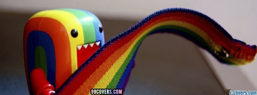 domo rainbow pride facebook cover