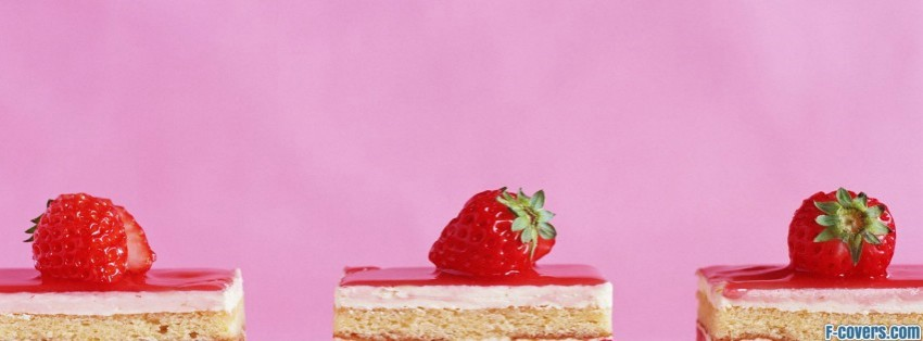 Easter Recipes Strawberry Sour Cream Cake Facebook Cover