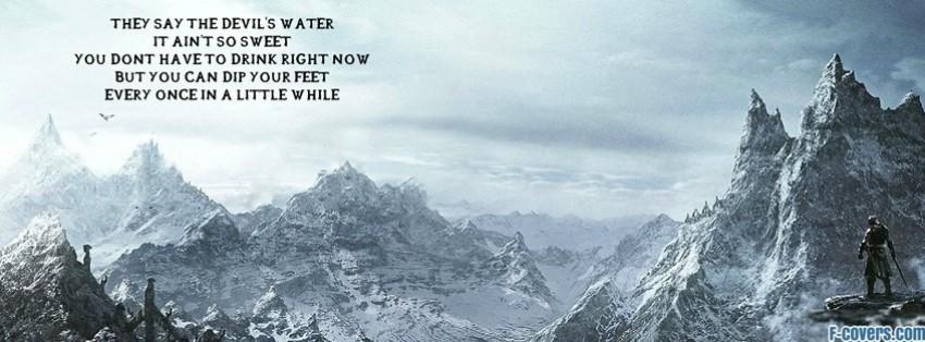 elder scrolls v skyrim facebook cover