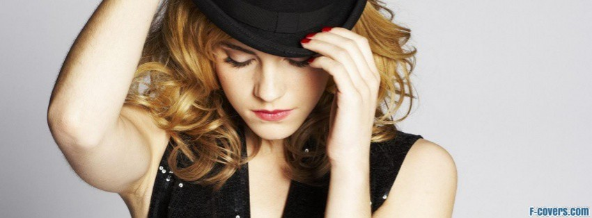 emma watson black hat facebook cover