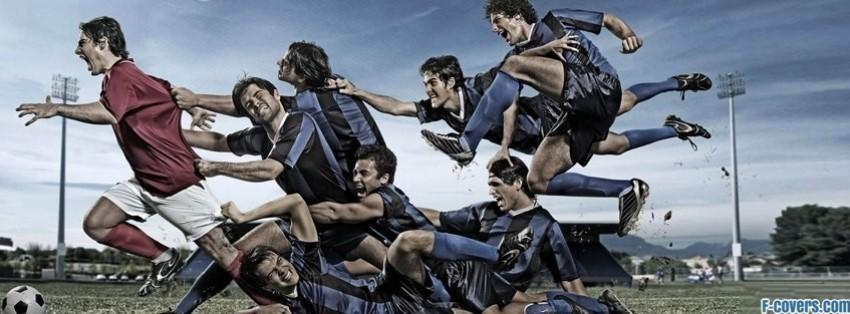 epic soccer moment red vs blue facebook cover