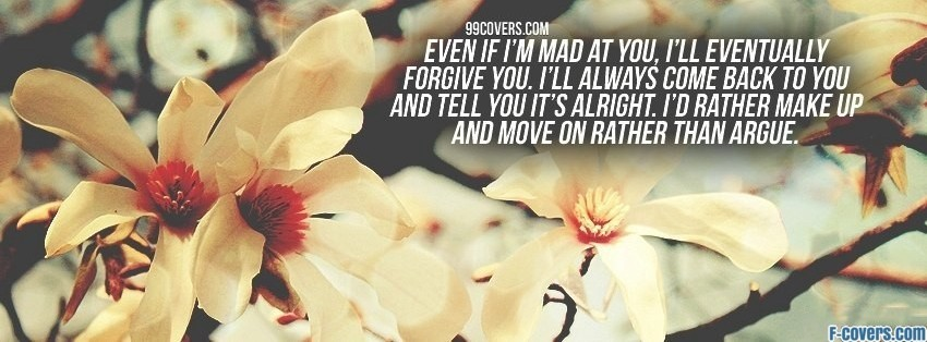 even if im mad facebook cover