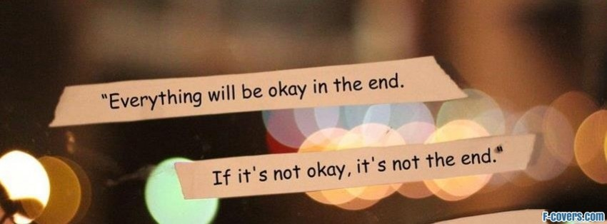 everything will be okay facebook cover