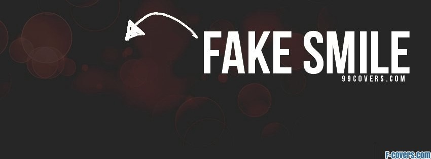fake smile facebook cover