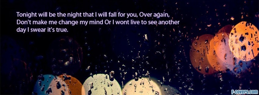 fall for you secondhand serenade facebook cover