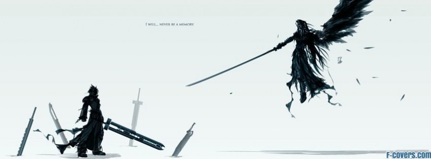 final fantasy  cloud vs. sephiroth facebook cover