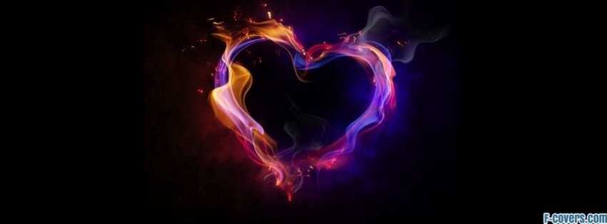 fire heart love hd facebook cover timeline photo banner for fb