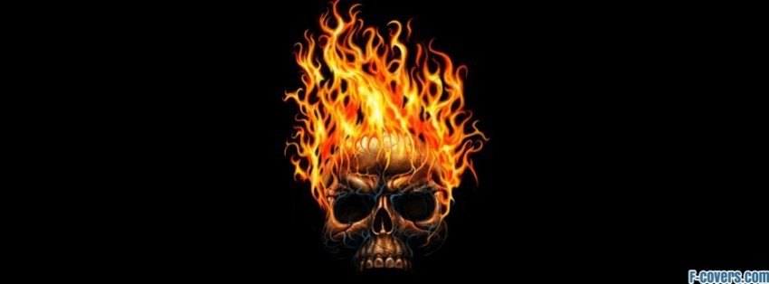 fire skull Facebook Cover timeline photo banner for fb