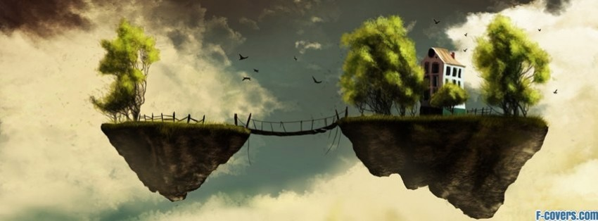 floating island fantasy art facebook cover