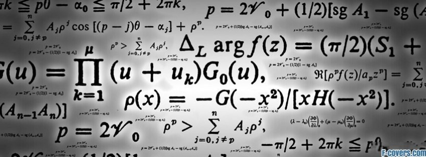 formulas math equations facebook cover