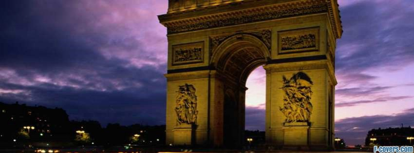 france arc de triomphe facebook cover