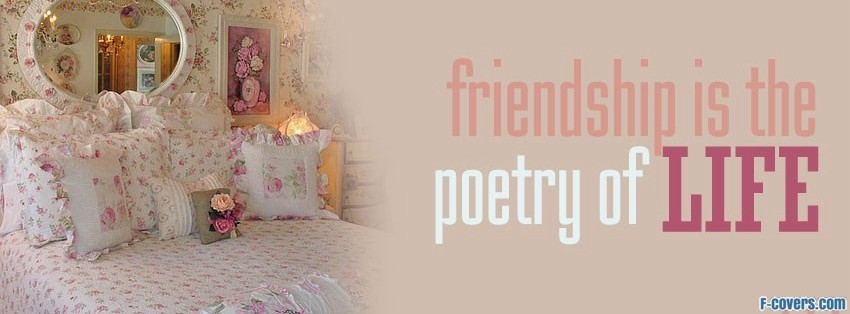 friendship is poetry facebook cover