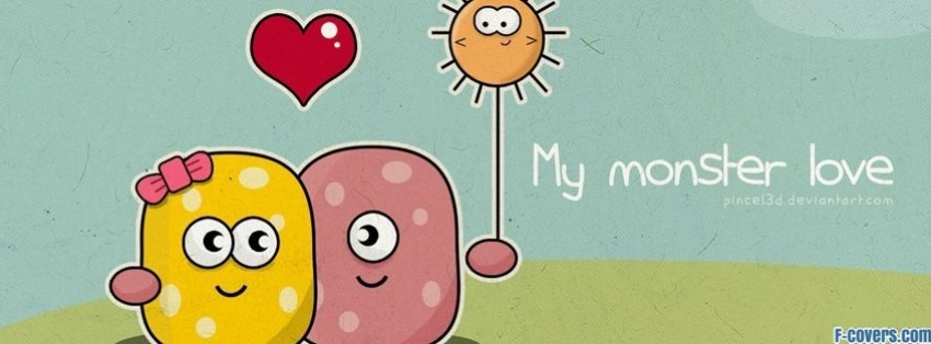 Funny Monster Love Facebook Cover Timeline Banner For Fbjpg
