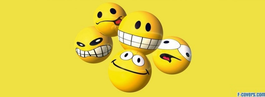 Funny Smiley Faces 2 Facebook Cover Timeline Photo Banner For Fb